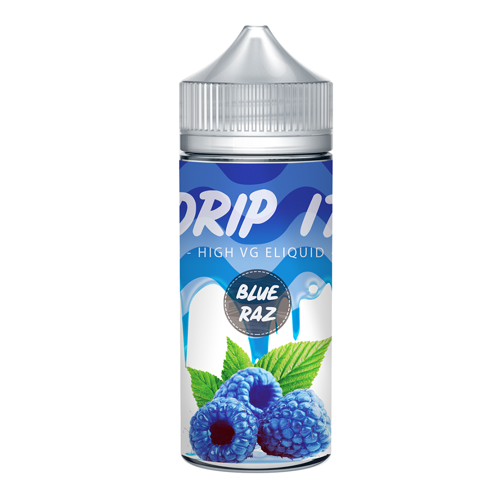 Drip It Blue Raz 0 nicotine e-Liquid 70/30 VG/PG 100ml