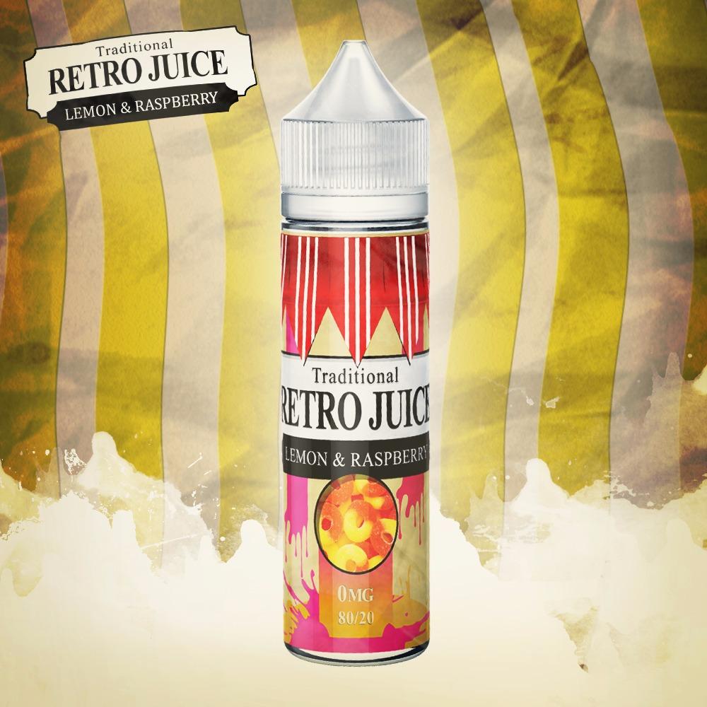 Retro Juice Lemon & Raspberry 0 nicotine e-Liquid 80/20 VG/PG 50ml