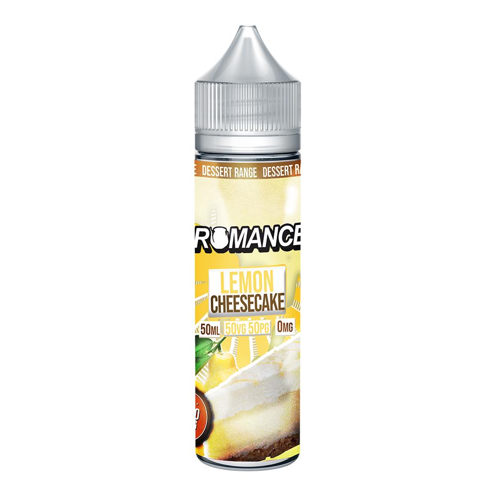 Romance Lemon Cheesecake 0 nicotine e-Liquid 50/50 VG/PG 50ml
