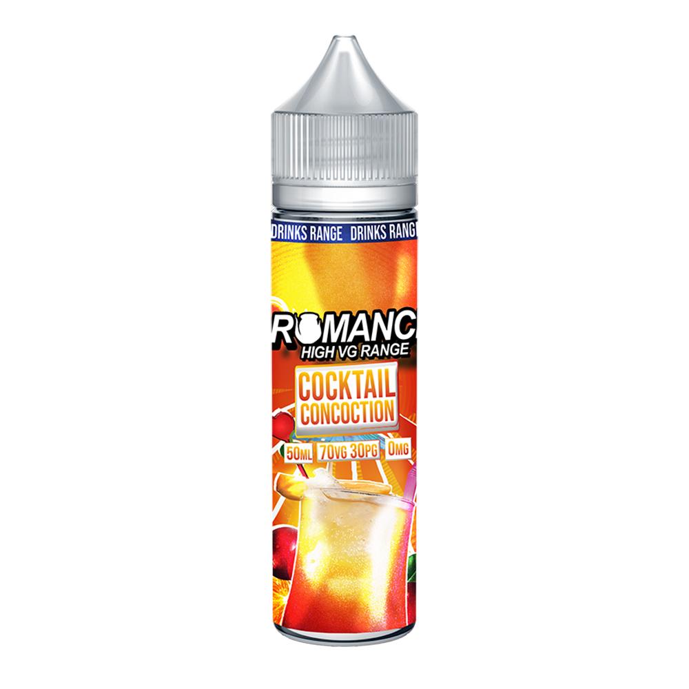Romance Cocktail Concoction 0 nicotine e-Liquid 70/30 VG/PG 50ml