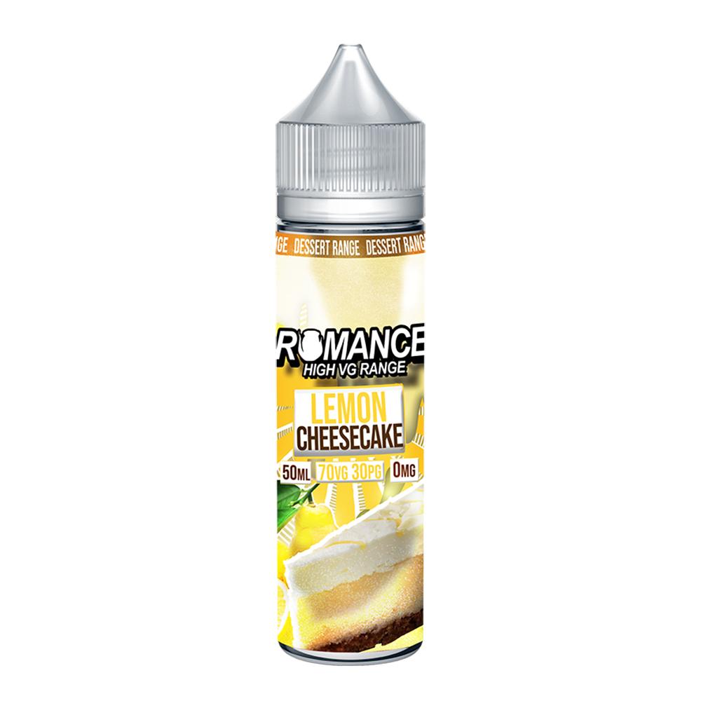 Romance Lemon Cheesecake 0 nicotine e-Liquid 70/30 VG/PG 50ml